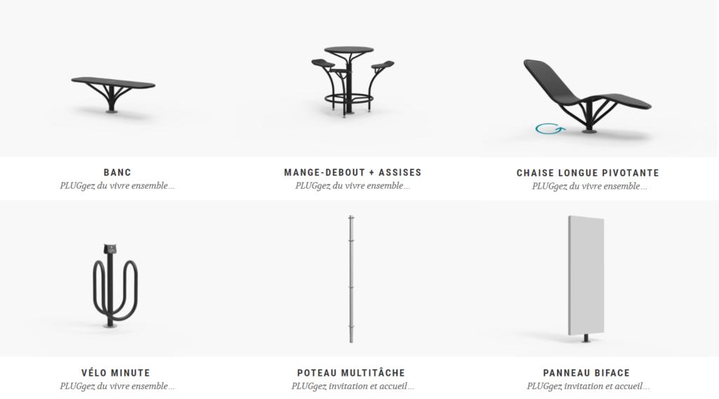 Exemple d'équipements urbains - PLUG (©Metalink Urban PLUG)